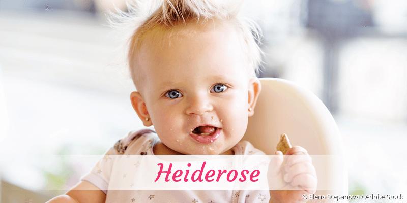 Name Heiderose als Bild