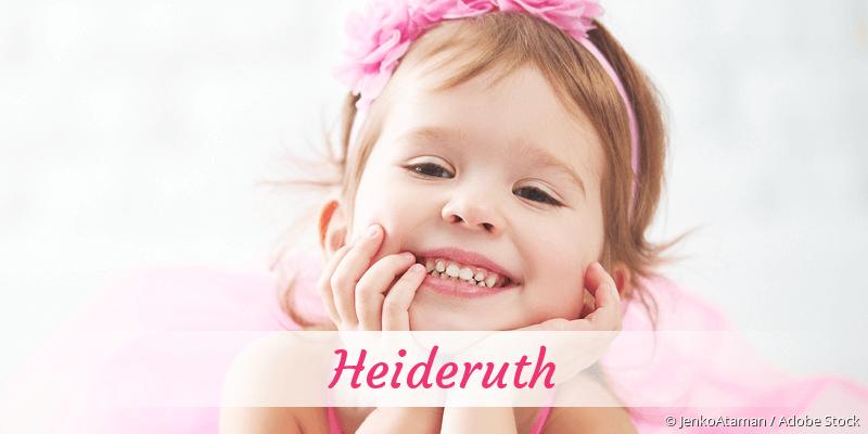 Name Heideruth als Bild