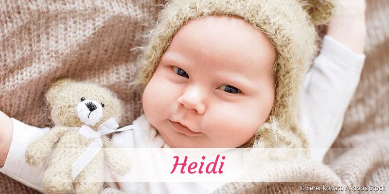 Name Heidi als Bild