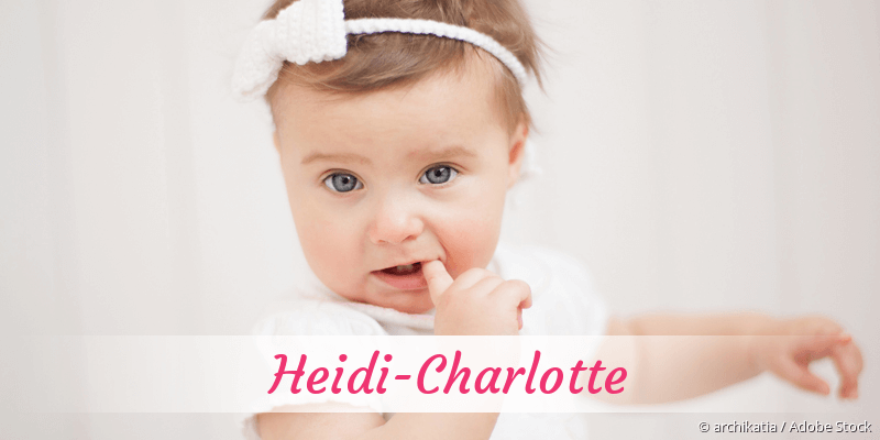 Name Heidi-Charlotte als Bild