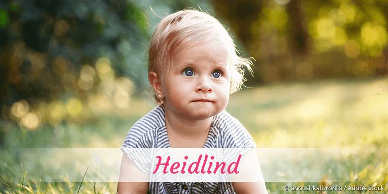 Name Heidlind als Bild
