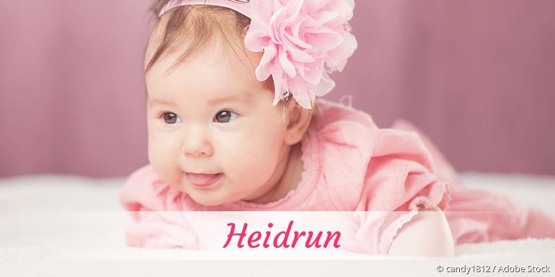 Name Heidrun als Bild