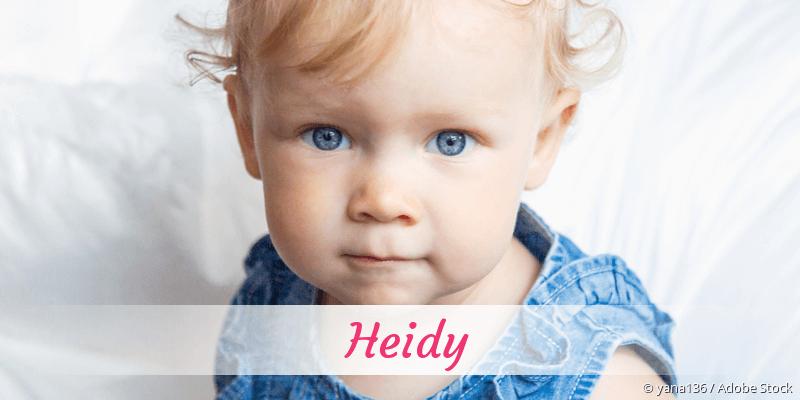 Name Heidy als Bild