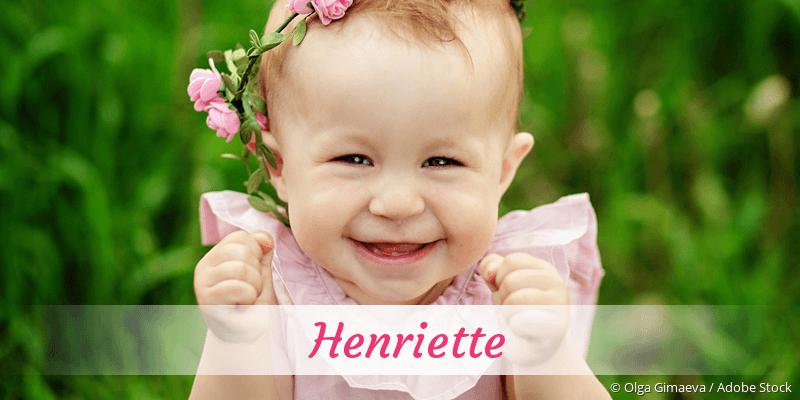 Name Henriette als Bild