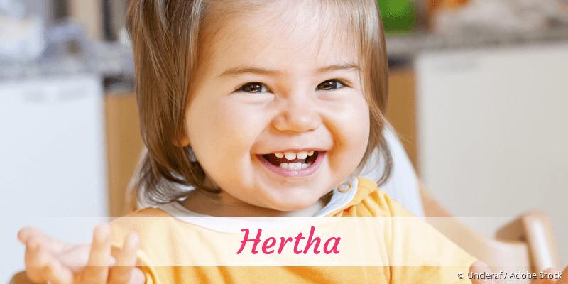 Name Hertha als Bild