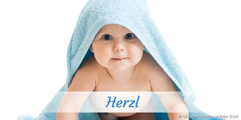 Name Herzl als Bild