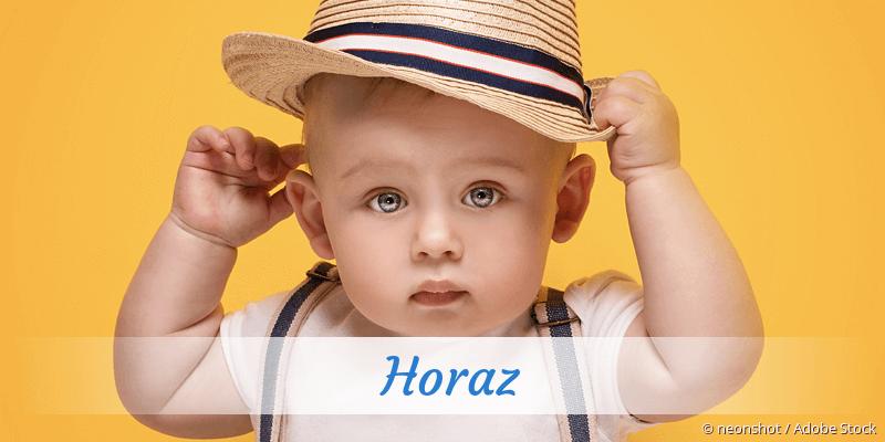 Name Horaz als Bild