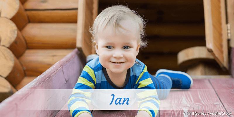 Name Ian als Bild