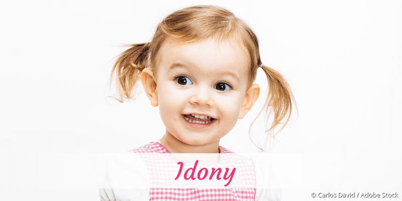Name Idony als Bild