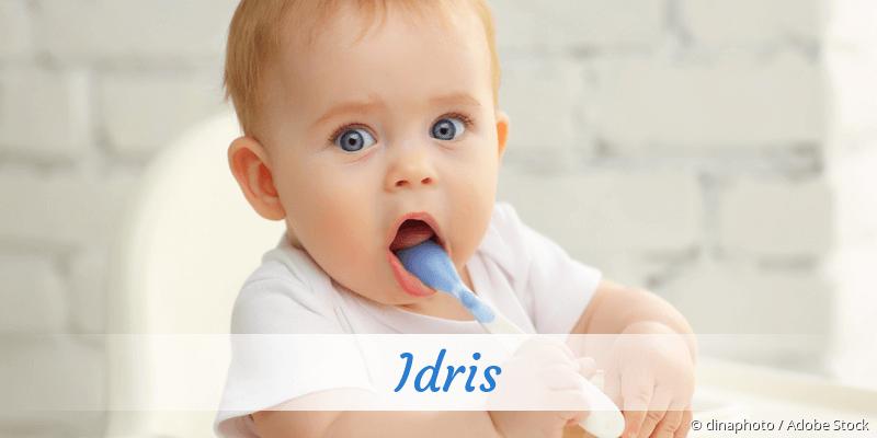 Name Idris als Bild