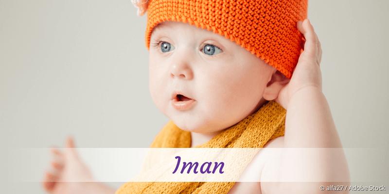 Name Iman als Bild