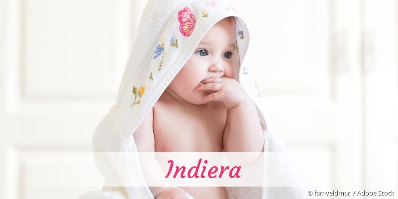 Name Indiera als Bild