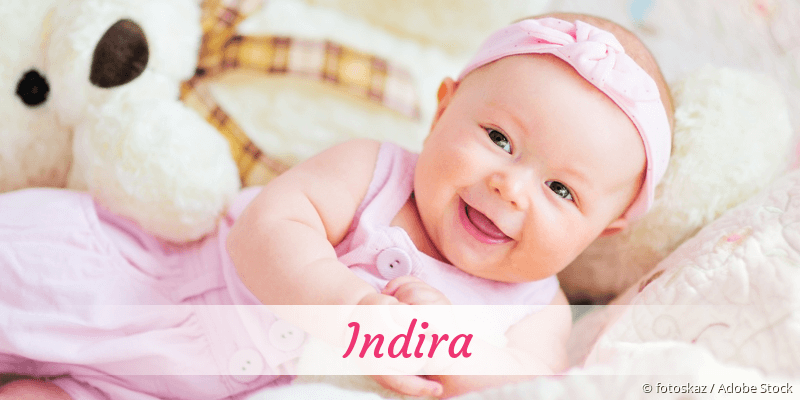 Name Indira als Bild