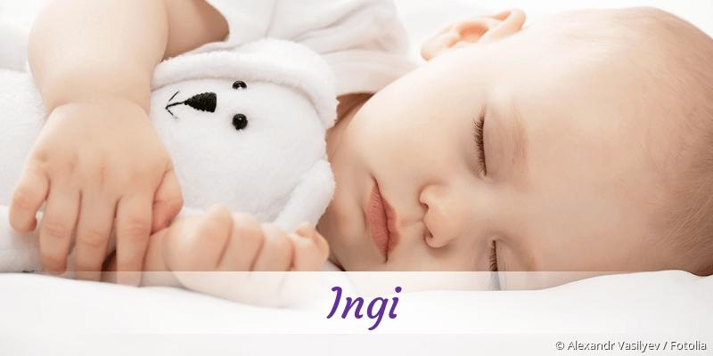 Name Ingi als Bild