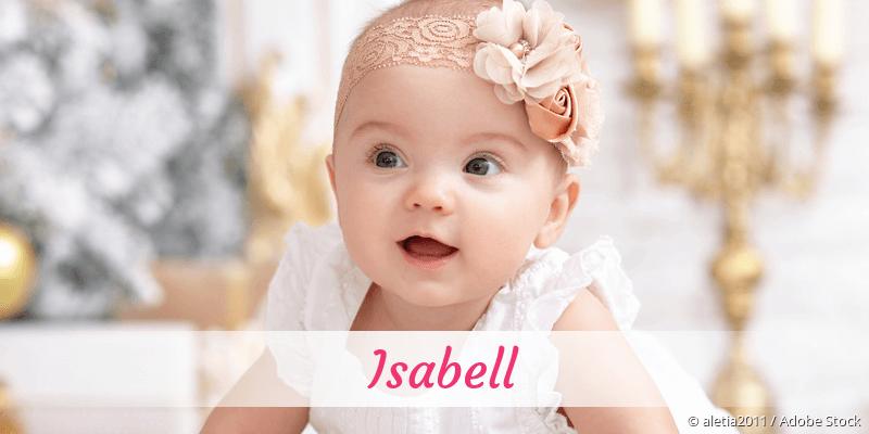 Name Isabell als Bild