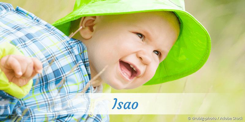 Name Isao als Bild