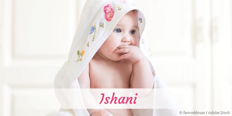Name Ishani als Bild