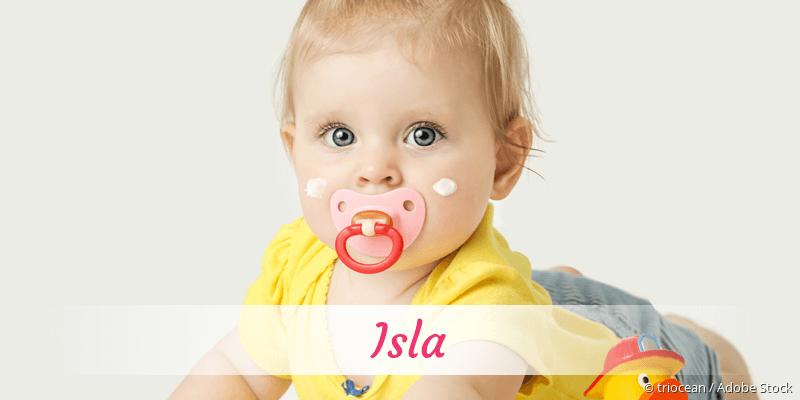 Name Isla als Bild