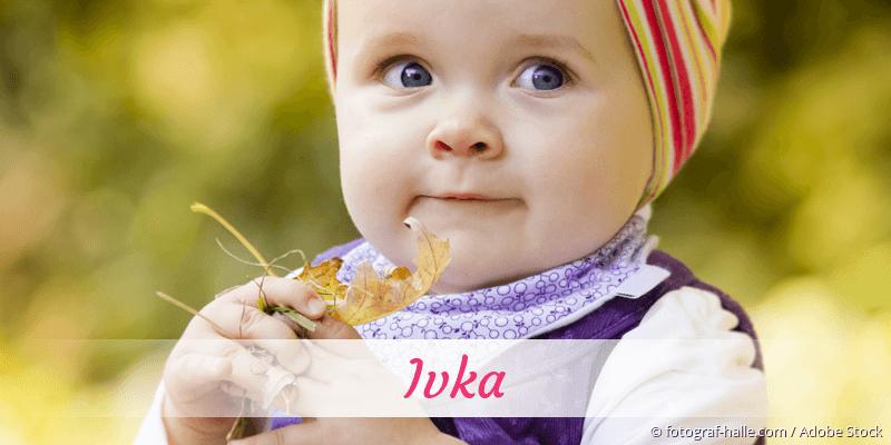Name Ivka als Bild