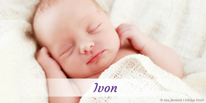 Name Ivon als Bild