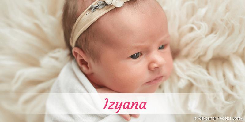 Name Izyana als Bild