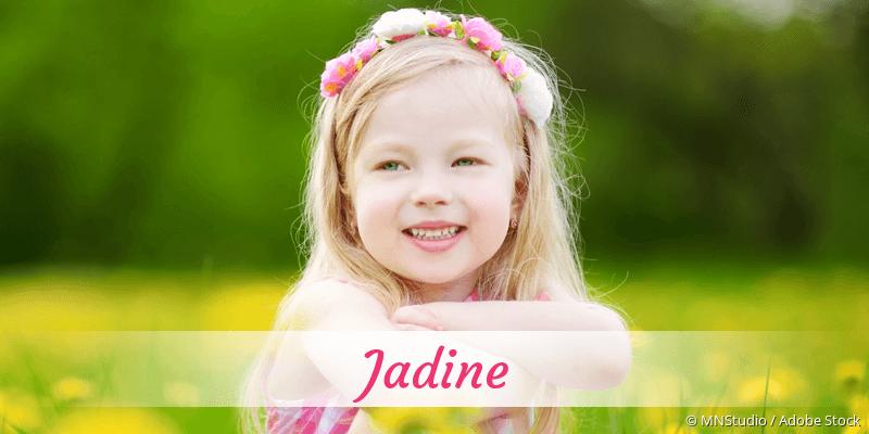 Name Jadine als Bild