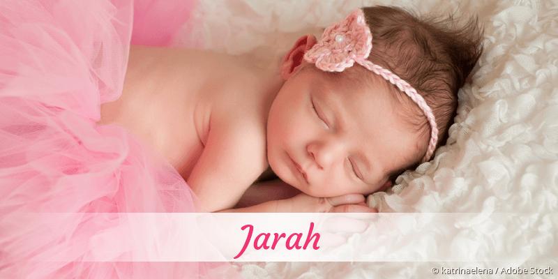 Name Jarah als Bild