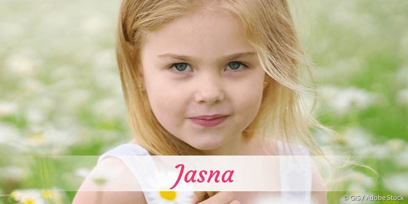 Name Jasna als Bild
