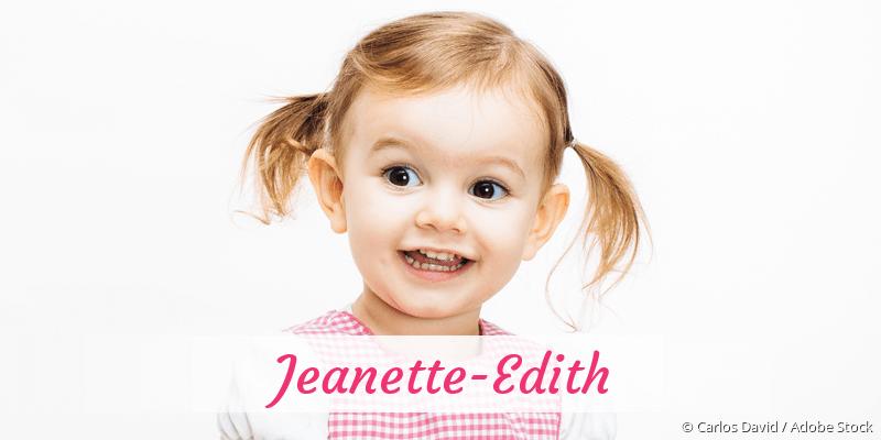 Name Jeanette-Edith als Bild