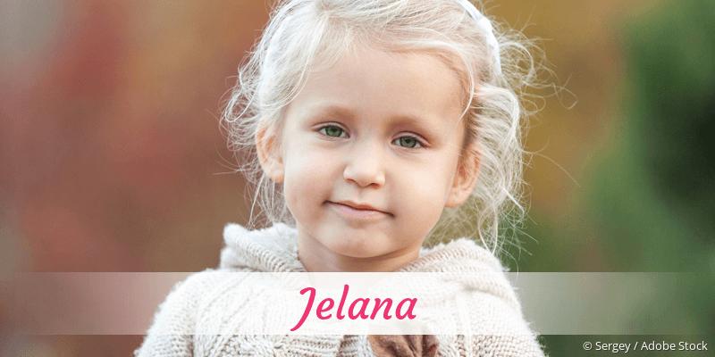 Name Jelana als Bild