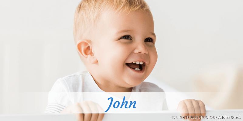 Name John als Bild