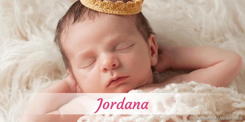 Name Jordana als Bild