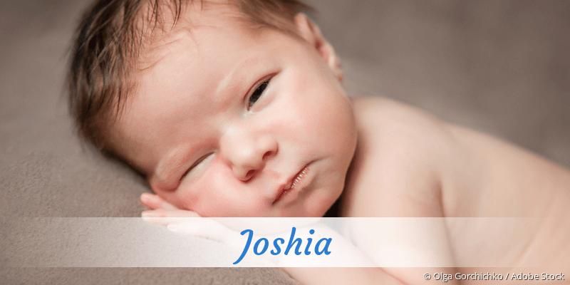 Name Joshia als Bild