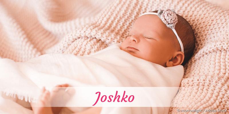 Name Joshko als Bild