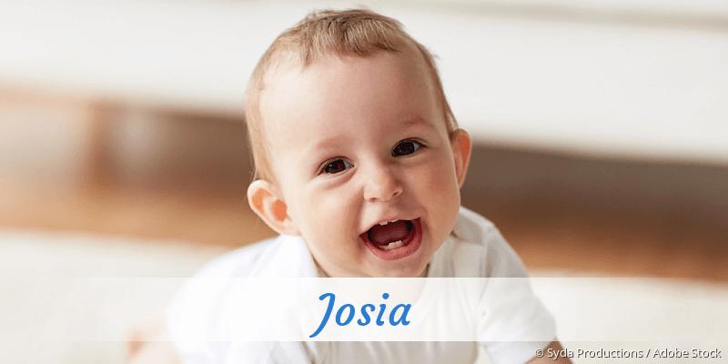 Name Josia als Bild