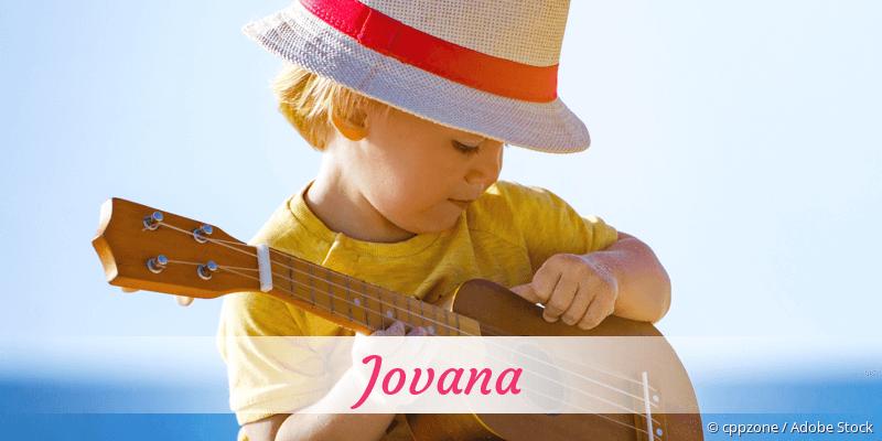 Name Jovana als Bild