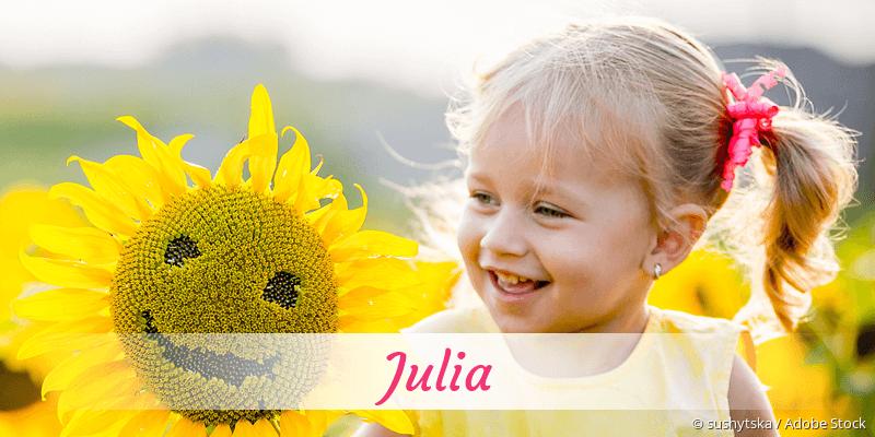 Name Julia als Bild