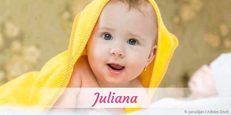 Name Juliana als Bild