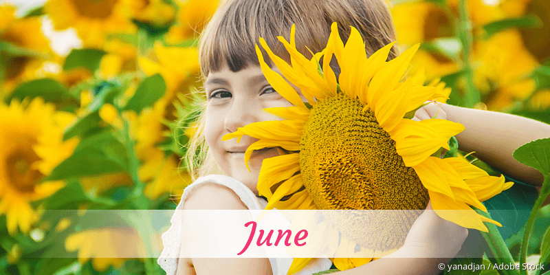 Name June als Bild