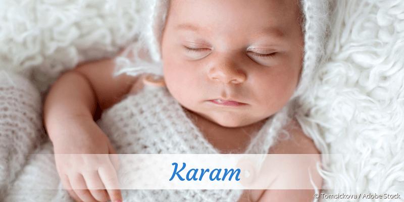 Name Karam als Bild