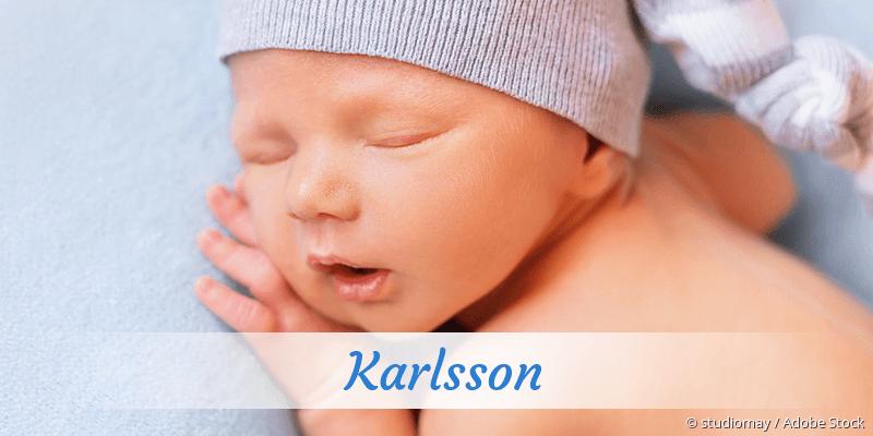 Name Karlsson als Bild