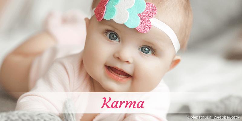 Name Karma als Bild