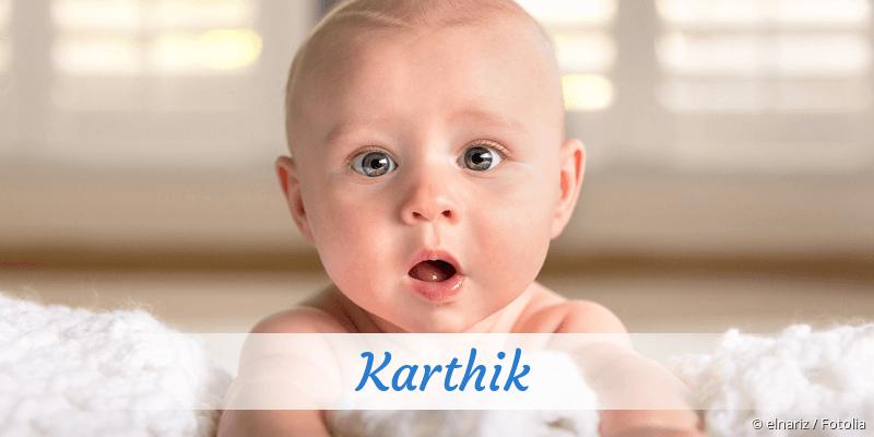 Name Karthik als Bild