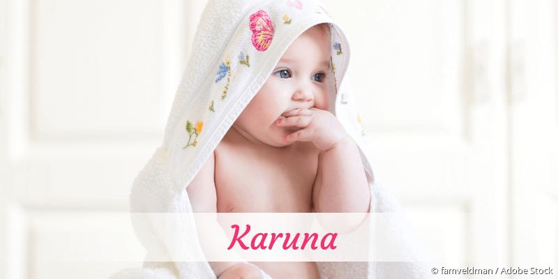 Name Karuna als Bild