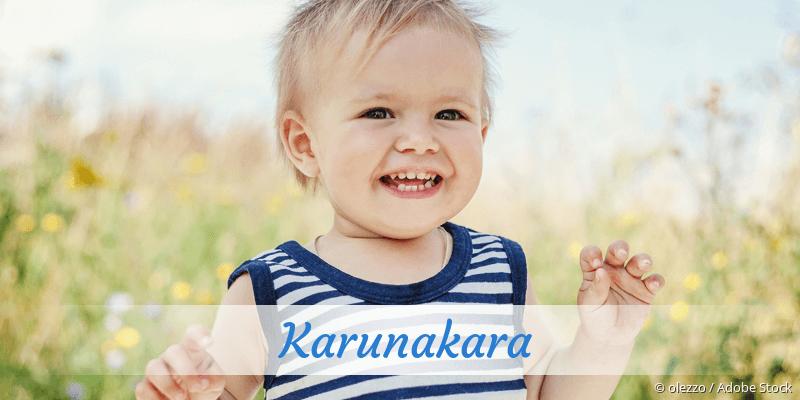 Name Karunakara als Bild