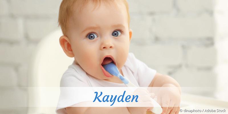 Name Kayden als Bild