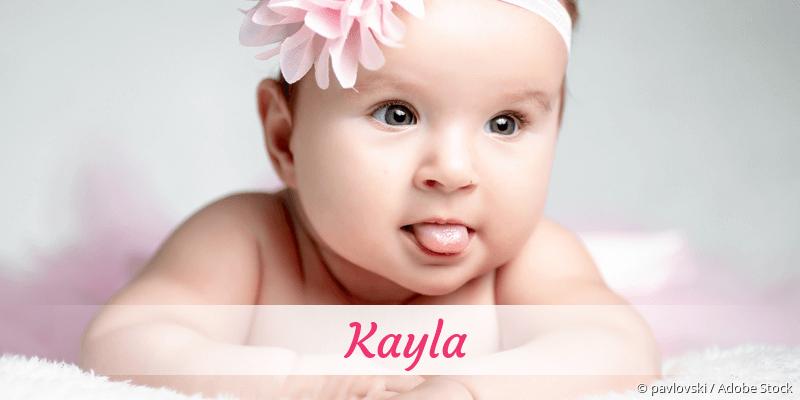 Name Kayla als Bild