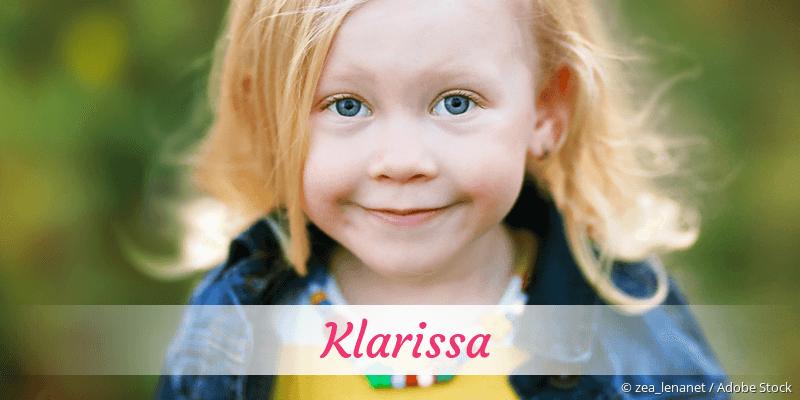 Name Klarissa als Bild
