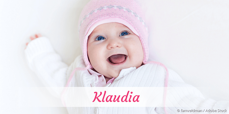 Name Klaudia als Bild