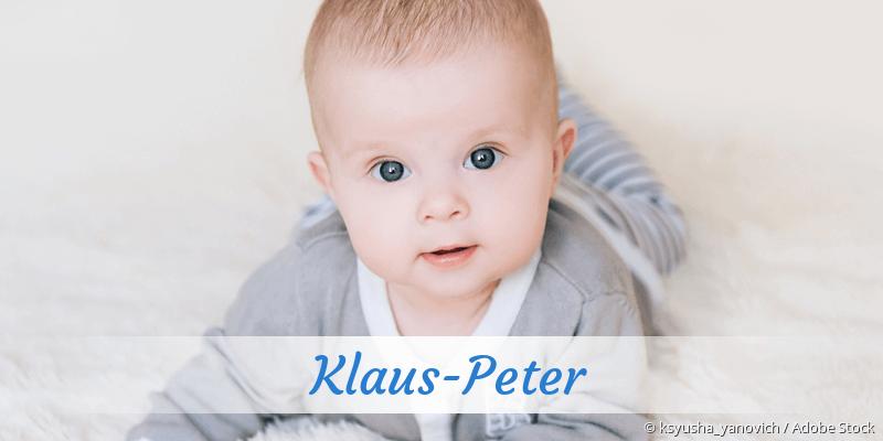 Name Klaus-Peter als Bild